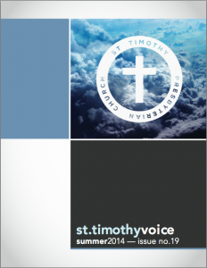 St Timothy Voice cover page