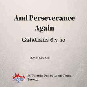 And Perseverance Again