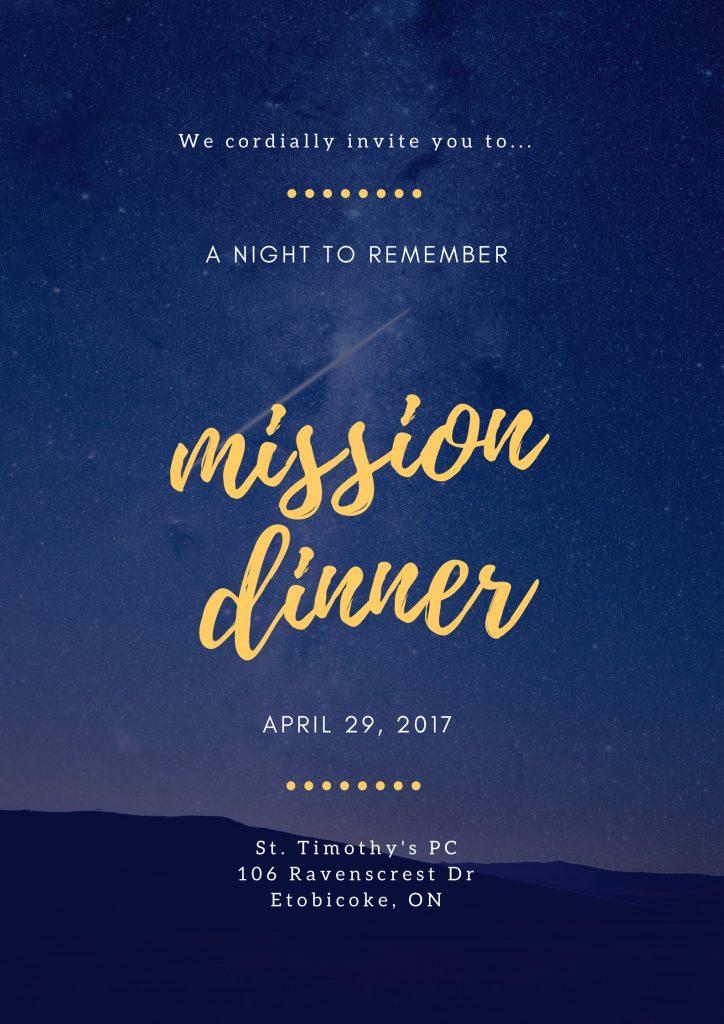 mission dinner