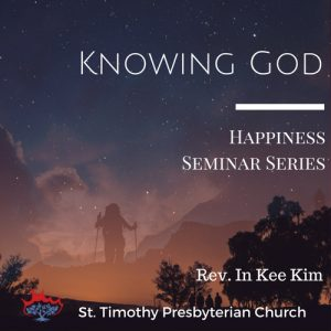 Knowing God: Lecture 1