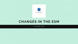 Changes in our ESM