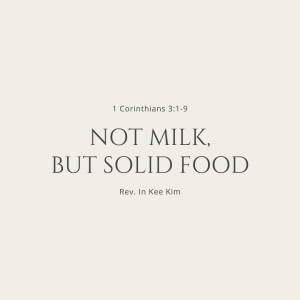 Not Milk, But Solid Food