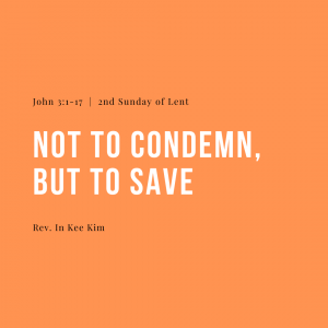 Not To Condemn, But To Save